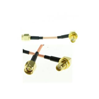 5cm SMA Plug a Angulo L SMA Jack Cable de Extension