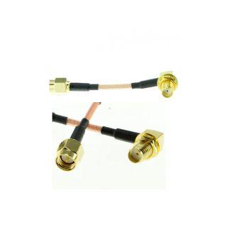 5cm RPSMA Plug a Angulo L RPSMA Jack Cable de Extension