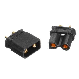 Conectores XT30 Negro - (Macho y Hembra)